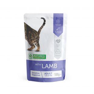 NATURE'S PROTECTION Sensitive digestion, konservid kassidele lambalihaga, kott 100 g