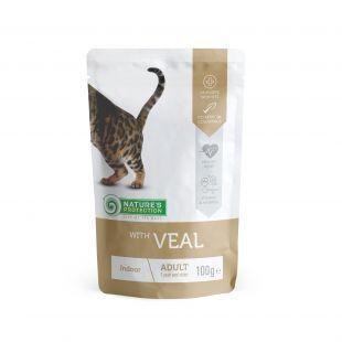 NATURE'S PROTECTION Indoor консервы для кошек с телятино пакетик 100 г