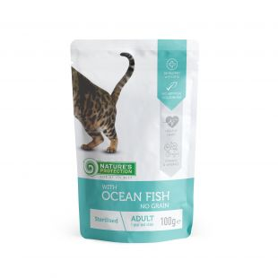 NATURE'S PROTECTION Sterilized консервы для кошек с океанской рыбо пакетик 100 г