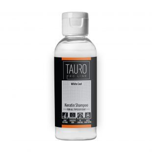 TAURO PRO LINE White coat KERATIN SHAMPOO , šampoon koertele ja kassidele 65 ml