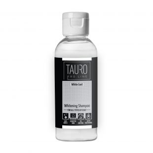 TAURO PRO LINE White Coat Whitening Shampoo , šampoon koertele ja kassidele 65 ml