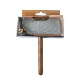SHUBERT Hari kassidele ja koertele pehmed harjased, helepruun, suurus L, 20x12, 5x2 cm