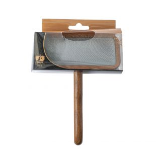 SHUBERT Щетка для кошек и собак мягкая щетина, светло-коричневая, размер L, 20х12, 5х2 см,