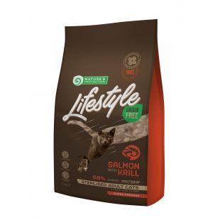 NATURE'S PROTECTION LIFESTYLE Сухой корм для кошек Lifestyle Grain Free Salmon with Krill Sterilised Adult Cat 1.5 кг