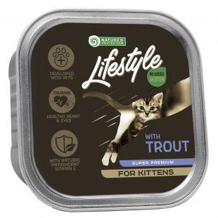 NATURE'S PROTECTION LIFESTYLE kitten, консервы с форелью, для котят 85 g