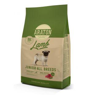 ARATON Kuivtoit koertele Junior Lamb 3 kg