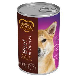 LOVELY HUNTER Adult Beef & Venison Konservid täiskasvanud koertele veiseliha ja hirvelihaga 400 g