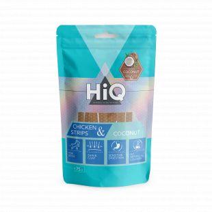 HIQ лакомства для собак куриные полоски с кокосом 75 г