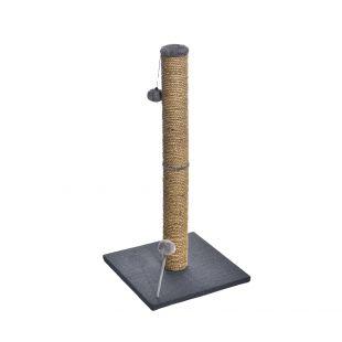 MADE4PETS Kraapimispost pom-pom mänguasjadega 38x38x81 cm, hall