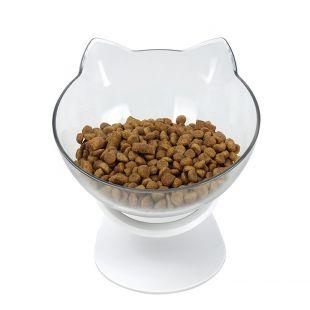ELS PET Kauss kassidele kassikujuline, 350 ml, valge