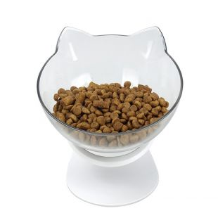 ELS PET миска для кошек, форма кошки 350 мл, белая
