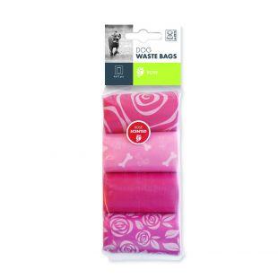 M-PETS Пакеты для сбора отходов для собак аромат розы, 60 шт.