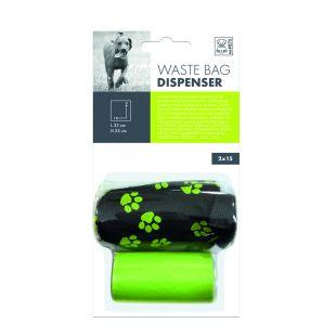 M-PETS Держатель мешка для отходов для собак зеленый, 30 шт.