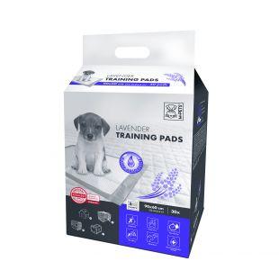 M-PETS Подушечки одноразовые для домашних животных, аромат лаванды 90х60 см, 30 шт.