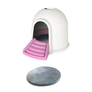 M-PETS Kassi liivakast roosa, 45,7 x 59,7 x 43,2 cm