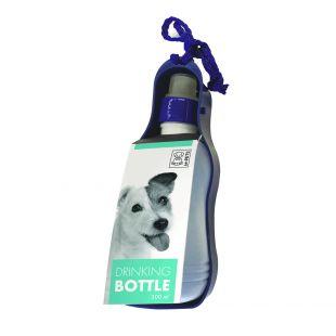 M-PETS Дорожная бутылка для воды для собак синяя, S, 300 мл