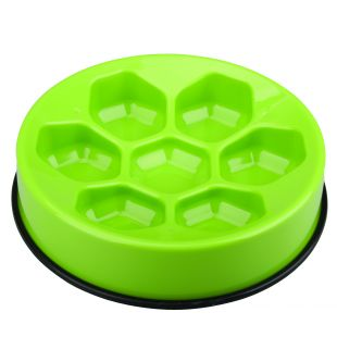 M-PETS Söömist aeglustav kauss lemmikloomadele roheline