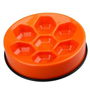 M-PETS Söömist aeglustav kauss lemmikloomadele oranž