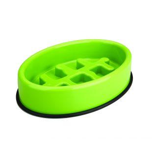 M-PETS Söömist aeglustav kauss lemmikloomadele ovaal, roheline