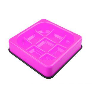 M-PETS Söömist aeglustav kauss lemmikloomadele vahvlikujuline, roosa