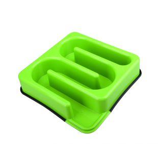 M-PETS Söömist aeglustav kauss lemmikloomadele rägastik, roheline