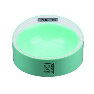M-PETS Миска для корма с электронными весами зеленая