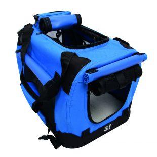 M-PETS Переноска для домашних животных синяя, L, 71x51x51 см