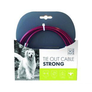 M-PETS Трос стальной для собак, красный, 3 м