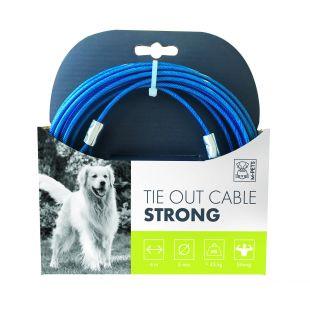 M-PETS Трос стальной для собак, синий, 6 м