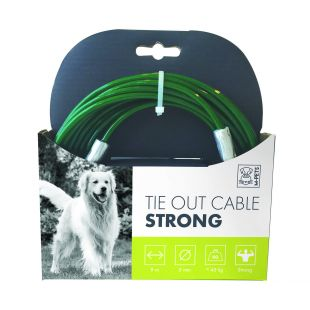 M-PETS Трос стальной для собак, зеленый, 9 м