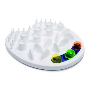 M-PETS Interaktiivne Söömist aeglustav kauss lemmikloomadele, IRIS, valge