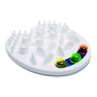 M-PETS Интерактивная миска для замедления приема пищи для домашних животных, IRIS, белая