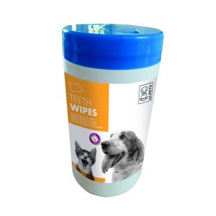 M-PETS Lemmikloomade hambahoolduse salvrätikud, antibakteriaalsed, 40 tk.