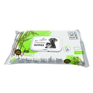 M-PETS Салфетки для ухода за домашними животными, биоразлагаемые, 40 шт.