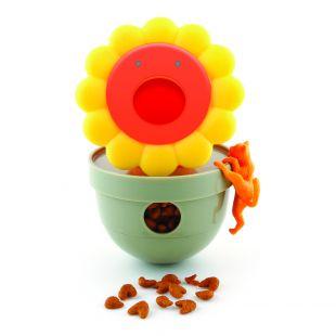 M-PETS Kassi mänguasi, FLOWER, oranž