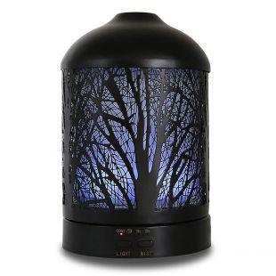A'SCENTUALS Ультразвуковой диффузор 100 мл, с мотивами дерева, черный