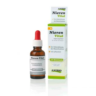 ANIBIO Nieren-Vital sõõdatoid kassidele ja koertele, neerufunktsiooni toetamiseks 30 ml