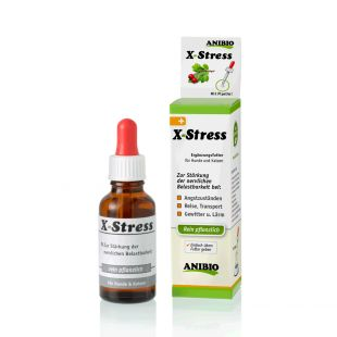 ANIBIO X-Stress söödalisand kassidele ja koertele, närvisüsteemi toetamiseks 30 ml