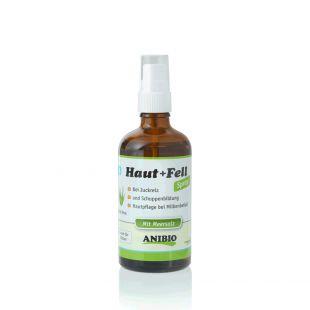 ANIBIO Haut + Fell Spray hooldusvahend kassidele ja koertele ? pihusti naha ja karva hooldamiseks 100 ml