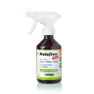 ANIBIO Melaflon Spray hooldusvahend kasside ja koerte jaoks - pihusti puukide ja kirpude vastu 300 ml