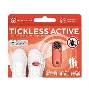 TICKLESS ультразвуковая подвеска для человека от клещей и блох, на аккумуляторе оранжевая