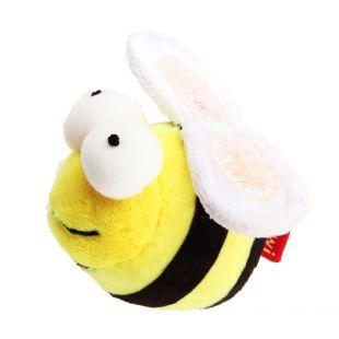 GIGWI Игрушка для кошек, Пчелка со звуком, разноцветная