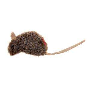 GIGWI Игрушка для кошек, плюшевая мышка с кошачьей мятой, серая