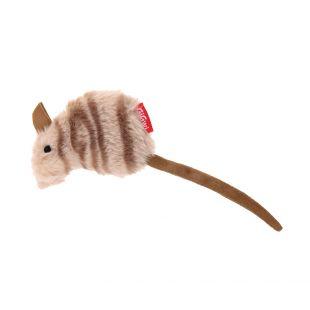 GIGWI Игрушка для кошек, плюшевая мышка с кошачьей мятой, коричневая