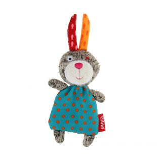 GIGWI Игрушка для кошек, Кролик с кошачьей мятой, разноцветная