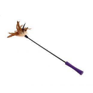 GIGWI Игрушка для кошек, палочка с перьями. коричневый