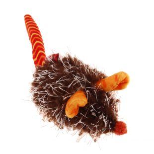 GIGWI Игрушка для кошек, плюшевая мышка, интерактивная, оранжевая