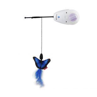 GIGWI Игрушка для собак, удочка, со сменными игрушками, разноцветная