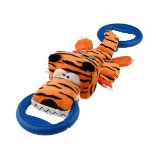 GIGWI Mõnguasi koertele, r§ngastega tiiger, palus, piiksuv orange