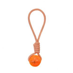 MISOKO&CO Игрушка для собак, веревка с мячом, оранжевая, 43 см